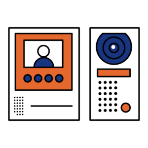 Door Intercom with speaker and video